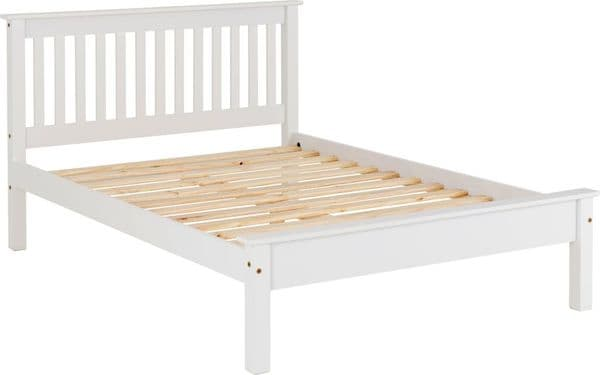 Doyle King Size Bed Low White